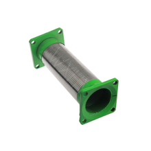Exhaust Interlock tube with square Painted Flange end for truck